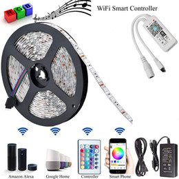 Wholesale Magic Home Mini RGB Wifi bluetooth LED strip kits Controller For Led Strip light Smartphone Control