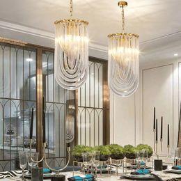 $enCountryForm.capitalKeyWord Australia - LED Modern Pendant Lights Fixture Golden Crystal Glass Hanging Lamps Home Indoor Lighting Kitchen Dining Room Living Room Bedroom Study Lamp