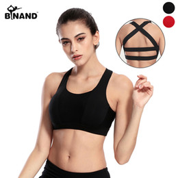 $enCountryForm.capitalKeyWord NZ - Backless Wide Elastic Cross Straps Push Up Running Vests Removable Padding Shake Proof Breathable Underwear Yoga Bras Sports Top