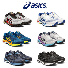 Running shoes best cushion online shopping - 2019 Asics Kayano Sport Mens Running Shoes Best Quality Black White Mens Sport Cushion Sneaker Designer Shoes Size