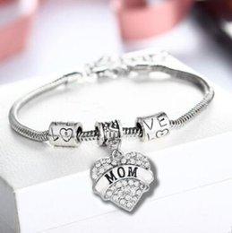Diamant Liebe Herz Designer Schmuck Armbänder Frauen Mutter Tochter Glauben Gesegnete Kristall Armbänder Sterling Silber Armband Freies Verschiffen