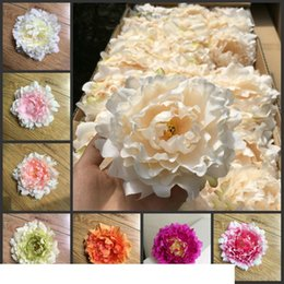 high quality 15cm Silk Peony Flower Heads Wedding Party Decoration Artificial Simulation Silk Peony Camellia Rose Flower