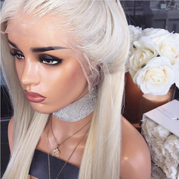 $enCountryForm.capitalKeyWord Australia - 2019 New Heat Resistant Hair Platinum Blonde Synthetic Lace Front Wig For Women Long Silky Straight Lace Wig with Baby Hair Natural Hairline