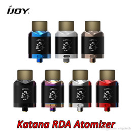 $enCountryForm.capitalKeyWord NZ - IJOY Katana BF RDA Atomizer 24mm Diameter with Flat Clamp Gold plated Squonk Pin 810 PEI Drip Tip Large Vapor Authentic Electronic Atomizers