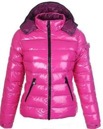 Wholesale women dress fashion winter resale online – hot Brand Women Winter Casual Down Jacket Down Coats Womens Outdoor Fur Collar Warm Feather dress Winter Coat outwear Jackets