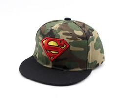 Chinese  2019 superman batman Kids cap boy summer Snapback Hiphop Superman Baseball Caps For Children Flat Anime Hat Boy Girls camo Hats 50 to 54cm manufacturers