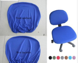 Style Office Chairs Australia - Factory Direct Modern Spandex Computer Chair Cover 100% Polyester Elastic Fabric Office Chair Cover 12 Colors Easy Washable Removeable