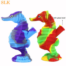 $enCountryForm.capitalKeyWord Australia - Hot seahorse pipes silicone smoking tobacco hand pipe cute glass oil burner pipe factory cheap price sells collapsible bongs water pipes