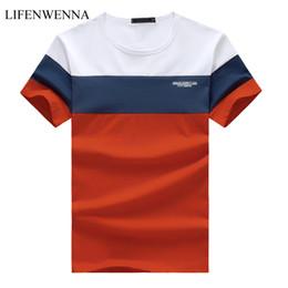 $enCountryForm.capitalKeyWord Australia - New Summer Men's T Shirt 2019 Fashion Striped T Shirt Mens Clothing Trend Slim Fit Short Sleeve Casual Mens Top Tees Shirt 5xl SH190629