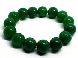 Fine Jewelry Jade Set Australia - Fine Jewelry 12MM Green Beads Stretchy Women Mens Jade Jewelry Bracelet Free Shipping