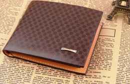 Vintage Lacing Cards Australia - New Hot Sale Short Leather Wallet Men Credit Card Holder Purse Vintage Male Clutch Trifold Men Money Wallets Carteira Man Clip