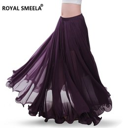 Wholesale beautiful work dresses resale online – New Degree Beautiful Yarn Belly Dance Skirt Professional Full Bellydance Dress Performance Costume Clothes Clothing Skirts C190416
