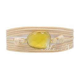Precious stones bracelets online shopping - New Bohemia Bracelet Vintage Non leather Wrap Bracelet Semi Precious Stone Bracelet Dropshipping