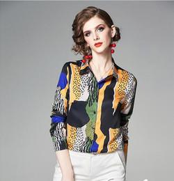 $enCountryForm.capitalKeyWord Australia - 2019 Abstract leopard print yellow black white women blouses long sleeve fashion summer ladies shirts