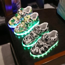 $enCountryForm.capitalKeyWord Australia - kids Iuminous Sneakers baby LED Iights Non-Slip shoes boys girls USB Rechargeable Breathable Shiny Iamp light shoes