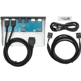 $enCountryForm.capitalKeyWord Australia - Easy Use Parts Durable Front Panel Internal Replacement 5.25 Inch Accessories 20 Pin HD Audio Port PC Case USB Hub Desktop
