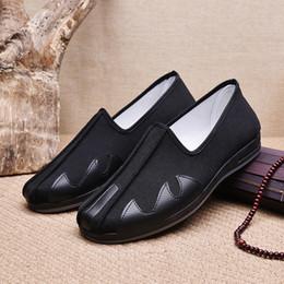 $enCountryForm.capitalKeyWord Australia - Fashion Classic Black Cloth Shoes Retro Chinese Kung Fu Shoes Chunchun Tai Chi Slippers Martial Arts Cotton Shoes Rehabilitation of Ethnic