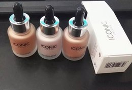 Face Glow Cream Australia - In stock!ICONIC LONDON Liquid Highlighter In Shine original shine glow three color face make up highlighter free dhl