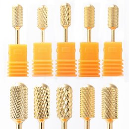 wholesale milling machines NZ - 10 Types Nail Drill Bit Milling Cutter for Manicure Pedicure Cuticle Clean DIY Electric Machine Nail Files Accessories LEXDJ1-10