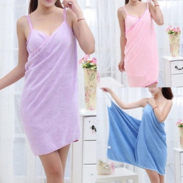 Wholesale bathing robes online – Women Bathing Robes Wearable Towel Dress Girls Women Womens Lady Fast Drying Beach Spa Magical Nightwear Sleeping Shirts Clothes