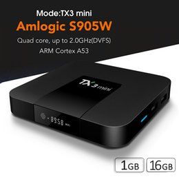 Media Player Air Mouse Australia - TX3 Mini Smart Tv Box With Air Mouse 1G 16G TV Box 4K Streaming Media Player S905W Quad Core Android TV Box