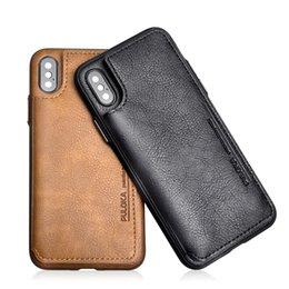 Vente en gros Pour iPhone X Xr Xs Max Wallet Case avec titulaire de la carte PU Kickstand Case Double fermoir magnétique couverture antichoc pour iphone 7 8 Plus