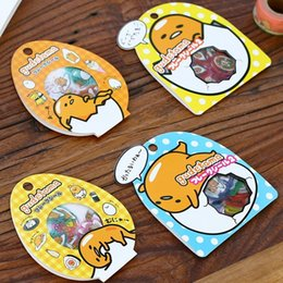 $enCountryForm.capitalKeyWord Australia - 20packs lot Japan Mr Lazy Egg series DIY multifunctional transparent DECO sticker pack Cute diary label office school supplies