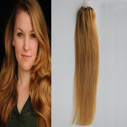 Ombre Micro Rings Australia - Micro Bead Links Remy Straight Extensions Micro Bead Hair Extensions 1g strand 100g 100% Human Hair Micro Loop Ring Hair Extension