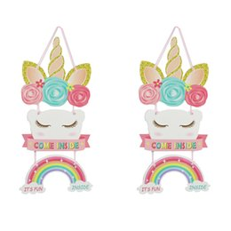 home birthday supplies Australia - Unicorn Party Supplies Hanging ornaments wedding decor colourful papery children room background wall door Home ornament hot sale 3 5ghD1