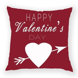 red love pillow Australia - Valentine'S Day Decoration Pillows Cases Red Rose Cushion Cover Polyester Pillow Case Love Gift Cushions Covers Home Pillow Case