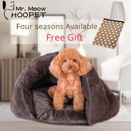 $enCountryForm.capitalKeyWord Australia - Hoopet Pet Dog Cat Bed Warm Soft Sleeping Bag Kitten House Sack Bed Kennel Cave Pet Home Blanket Mat Cushion D19011506