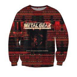 Men S Winter Gear Australia - New Arrive Style Sweatshirt Crewneck Metal Gear crewneck hoodies Solid Casual Jumper sweatshirts winter sweats
