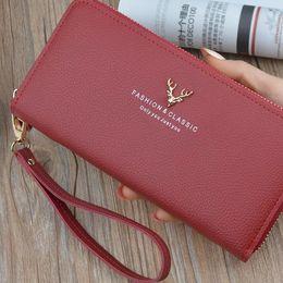 Bayanlar çanta bayanlar uzun çanta yeni büyük kapasiteli cüzdan cep telefonu için fermuar multi-fonksiyonel uzun moda çanta