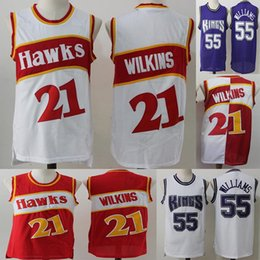 a86019d80c5 2019 Men s Jason 55 Williams Spud 4 Webb jersey Dominique 4 Wilkins Trae 11  Young Basketball Stitching Red White Jerseys