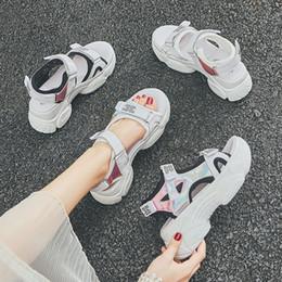 $enCountryForm.capitalKeyWord NZ - Fashion Sport Platform Women Sandals Open Toe Ankle Strap Flat Beach Ladies Sandals Hook Loop Outdoor Platform Women Shoes