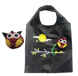 Large Capacity Shopping Bag Foldable Australia - Owl Reusable Grocery Bags Foldable Shopping Bags Large Capacity Tote Travel Recycle Storage Organization Handle Bag Eco-Friendly colorful
