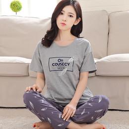 $enCountryForm.capitalKeyWord Australia - Spring Short Sleeve Pajamas Suit Women Modal Lovely Home Clothing For Ladies O-neck Lounge Wear Pijama Girls Casual Sleepwear Y19071901
