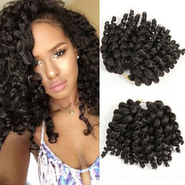 crochet pack NZ - (one pack) African Collection Ombre Jumpy Wand Curl Twist Jamaican Bounce Twist Braiding Hair Extension Havana Synthetic Crochet Hair