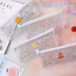 $enCountryForm.capitalKeyWord Australia - Girl Heart Flowing Pen Bag Large Capacity Stationery Box Japanese Transparent Pencil Bag