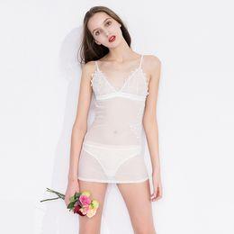 Hot Sale Fashion Women s Onesies Underwear Pajamas New Sexy Lingeries  Pajamas Sheath V Neck Night Gown Sleepwear Honeymoon Dress CPA1469 4593870e8