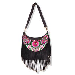 $enCountryForm.capitalKeyWord UK - Fashion National embroidery Women Shopping handbags!Nice Floral embroidered shoulder&Crossbody bags Multi Tassel Saddle Carrier