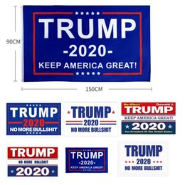 printed silks 2019 - Newest 90*150cm Trump 2020 Flag Print Keep America Great Banner Garden Donald Flags Polyester Decor Banner discount prin
