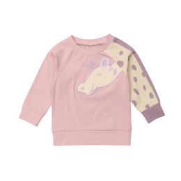 $enCountryForm.capitalKeyWord Australia - 2019 New Giraffe Baby Boy Girl Cotton T-shirt Top Sweatshirts Hoodie Sweatshirt Kid Outfit Size 1-5Y