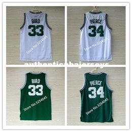 2019 neue # 33 Larry Bird # 34 Paul Pierce # 5 Kevin Garnett Top Basketball Jersey Stickerei genäht US-Größe S-XXL Weste Trikots Ncaa im Angebot