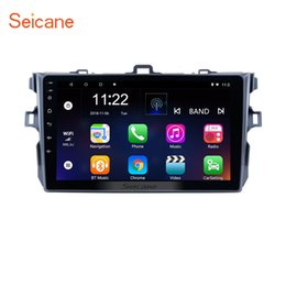 toyota car gps navigation corolla 2019 - 9 inch Android 8.1 Car Radio for 2006-2012 Toyota Corolla Pure with Bluetooth Music GPS Navigation support Steering Whee
