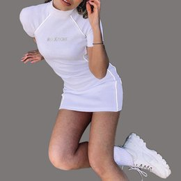Casual Short White Tight Dress Australia - New Style Fashion Womens Designer Dresses Sexy Womens Tight Dresses High Quality Womens Designer Sexy Short Sleeves Dress