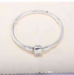 $enCountryForm.capitalKeyWord Australia - 16cm-23cm Silver Plated Bracelets 3mm Snake Chain Fit Charm Bead Bangle Bracelet Jewelry Gift For Women