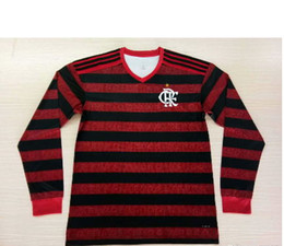 Flamengo Jersey UK - 1920 New Brazil club Flamengo longsleeve home red away white soccer jersey 19 20 Camisa de futebol DIEGO Gabriel football shirts 2019