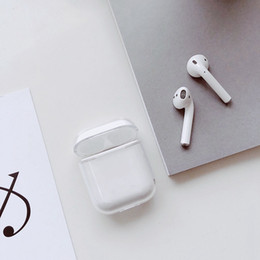 $enCountryForm.capitalKeyWord Australia - Full Clear Soft TPU Earphone Case For Airpods Slim Transparent Hard PC Earphone Protective Shell Case For Airpods 2 Charging Box