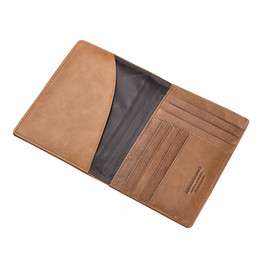 passport ticket case Australia - Genuine Leather Men's Card Case Vintage Passport Cover Multi Card Slots Holder Airline Ticket Wallet Large Capacity Clutch Male